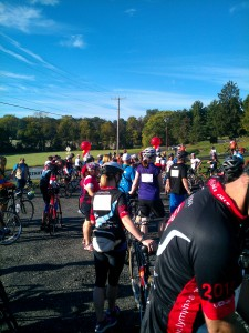 start line lymphoma research ride 2014